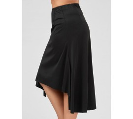 Asymmetric Black Skirt