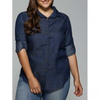 Dark Denim Long Sleeve Shirt