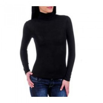 Black Long Sleeve High Neck Top