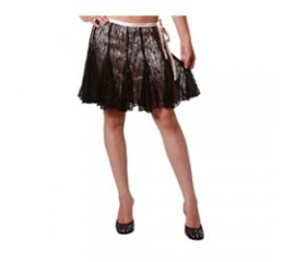Black Lace Overlay Skirt