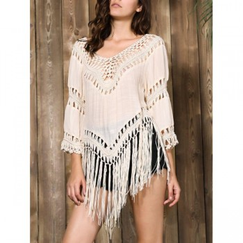 Stylish V-Neck Cover Up